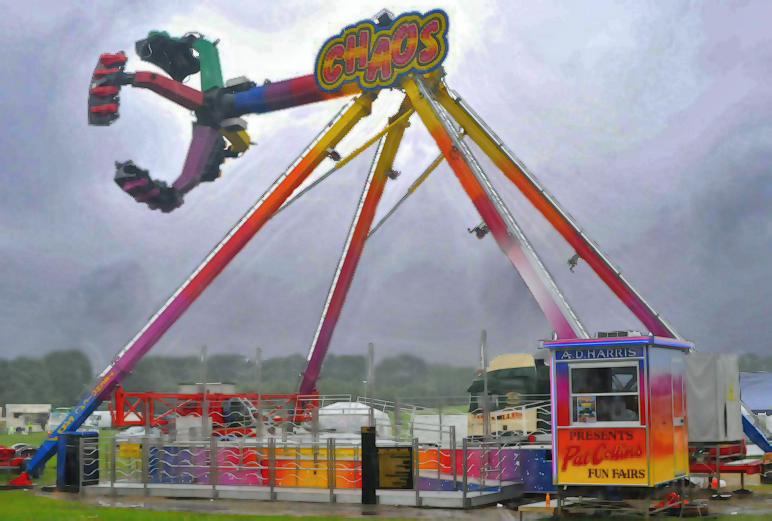 Image of the ride 'Chaos' at Pat Collins Fun Fair