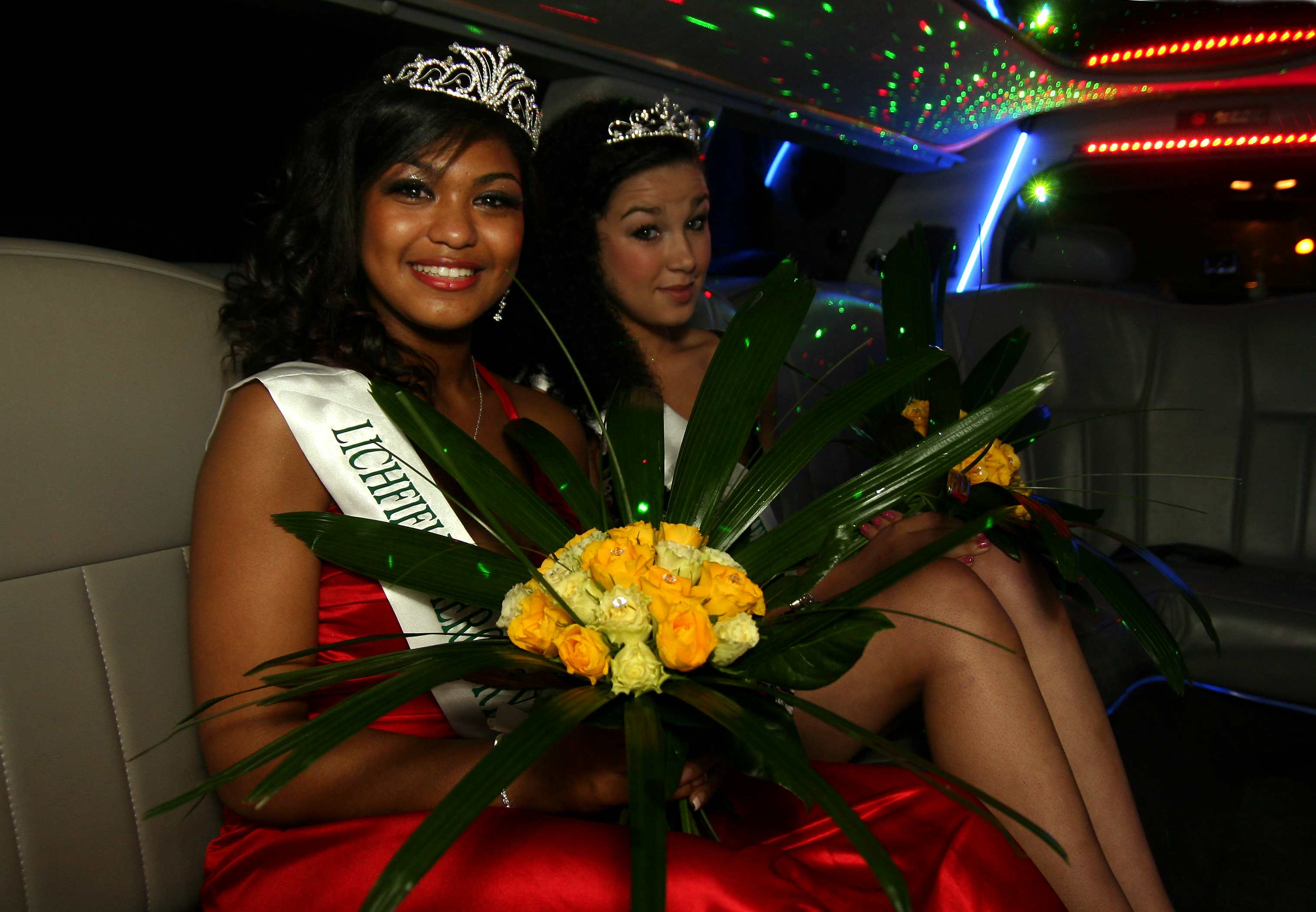 Bower Queen Gemma Louise Powell with her Deputy Elishia Vallely
