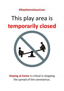 This play area is temporarily closed