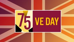 75 VE day logo